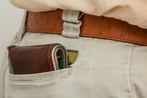 Wallet in back pocket can lead to misalignment your back!