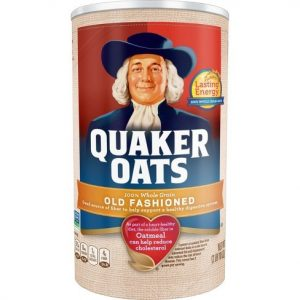 Quaker Oats Macronutrients Calculation Exampl