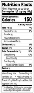 Quaker Oats Nutrition Facts Macronutrients Calculation Example